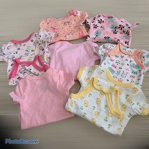 Swiggles Lot of Onesies for Girls Short Sleeve NWT